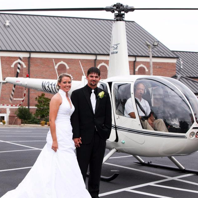 Wedding helicopter
